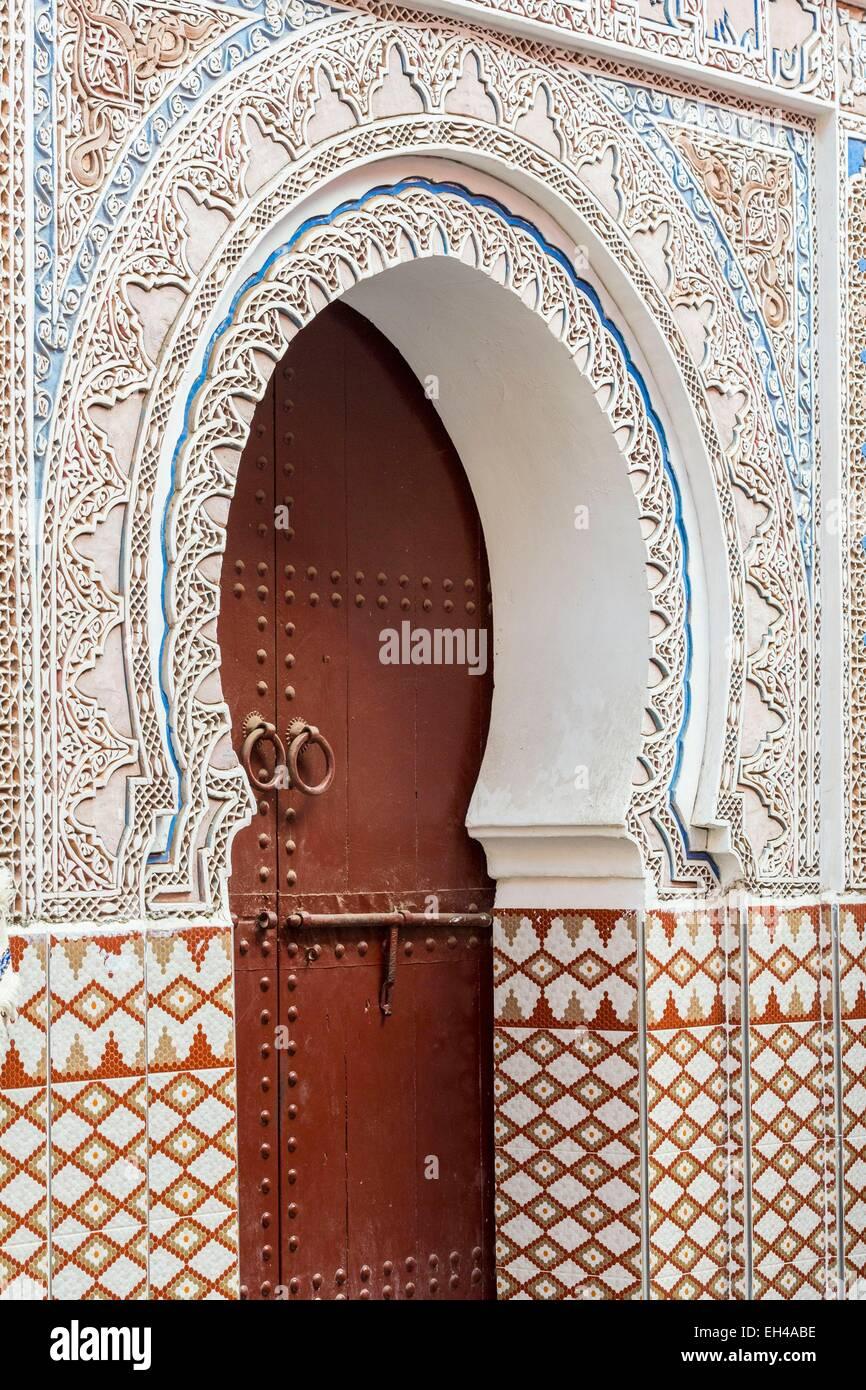 Marruecos, el Alto Atlas, Marrakech, ciudad imperial, medina listados como Patrimonio Mundial por la UNESCO, Mouassine Imagen De Stock