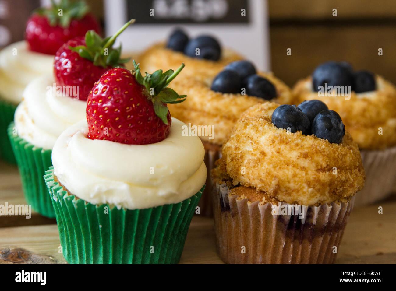 Cupcakes dulces Imagen De Stock