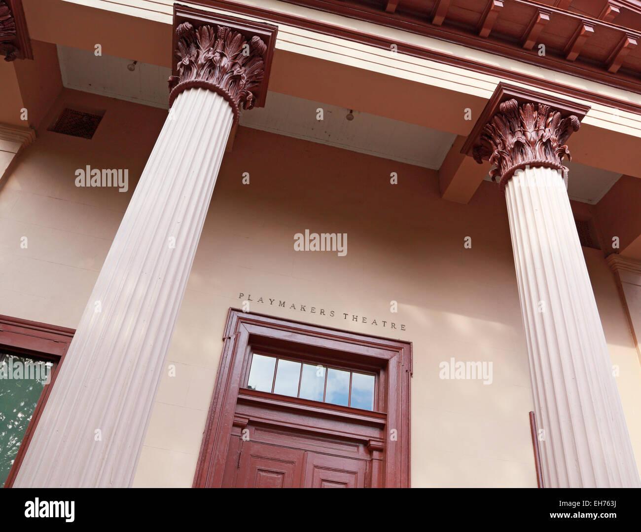 Universidad de Carolina del Norte en Chapel Hill. Teatro Centrocampistas Foto de stock