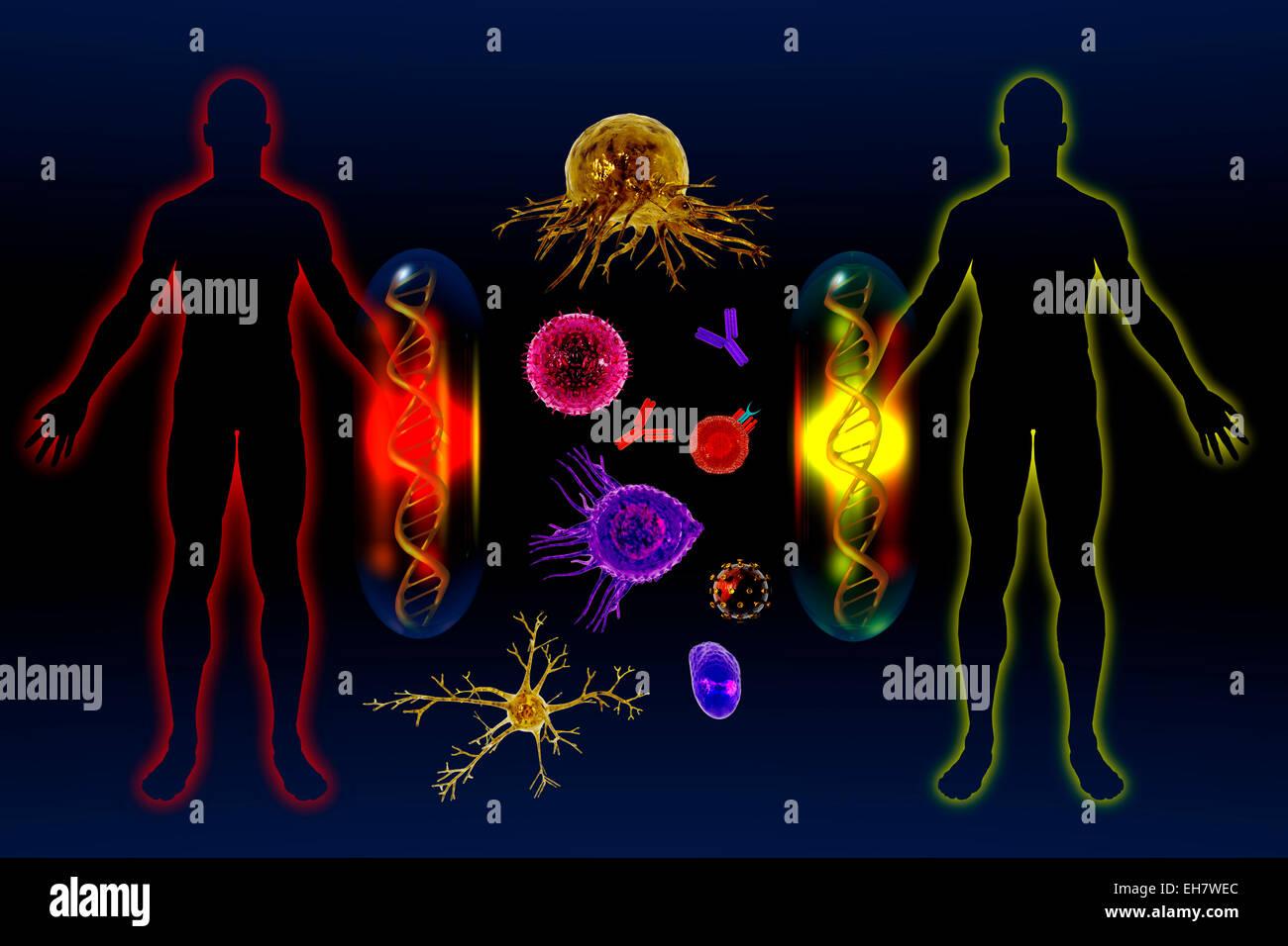 Medicación personalizada, ilustración Imagen De Stock