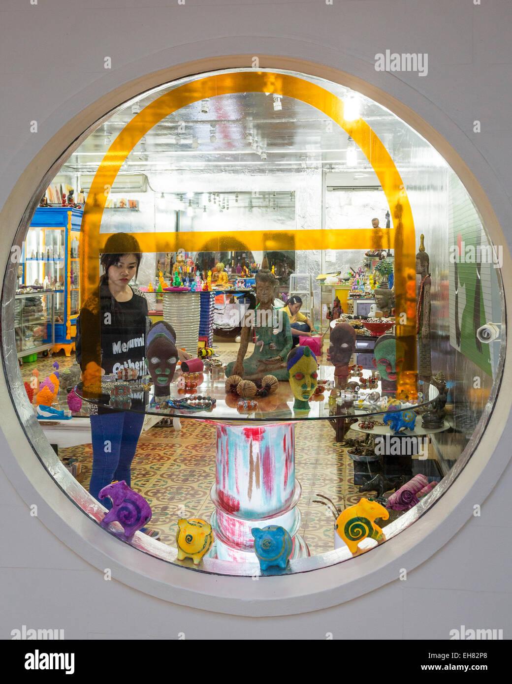 Concepto de Tienda Galería Wa, Siem Reap, Camboya, en Indochina, en el sudeste de Asia, Asia Imagen De Stock