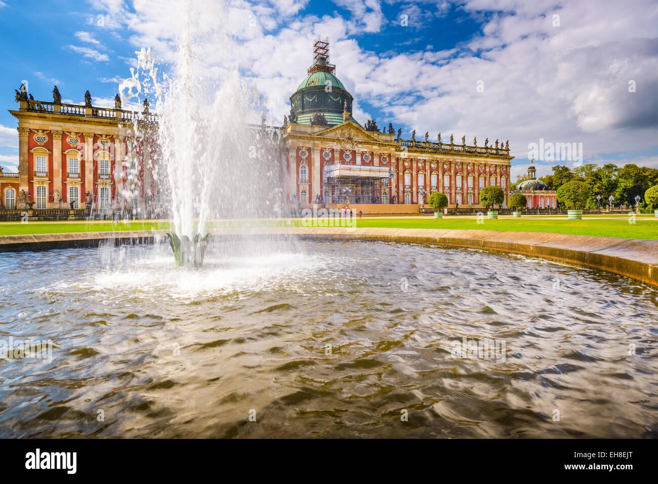 """El nuevo palacio """"Neues Palais' en Potsdam, Alemania. Imagen De Stock"""