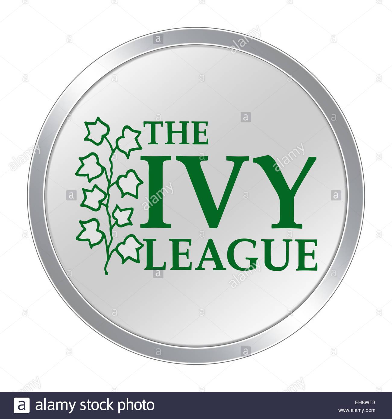 Botón de icono del logotipo de Ivy League Imagen De Stock