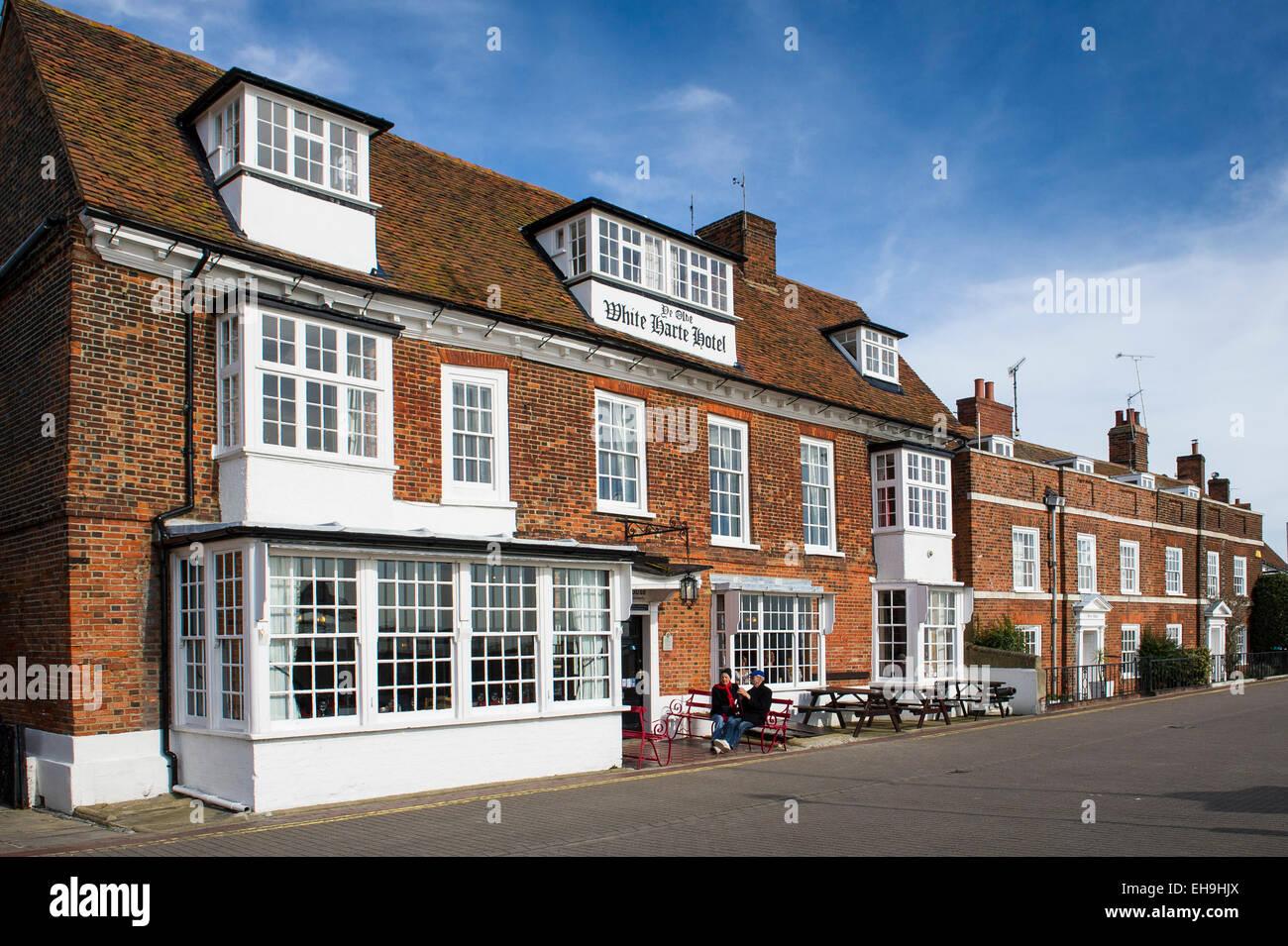 Ye Olde White Harte hotel en Burnham sobre Crouch en Essex. Imagen De Stock