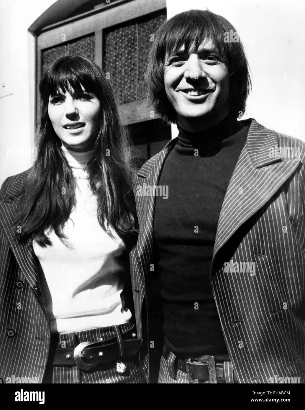 Sonny y Cher, Retrato, alrededor de finales de los años 1960 Imagen De Stock