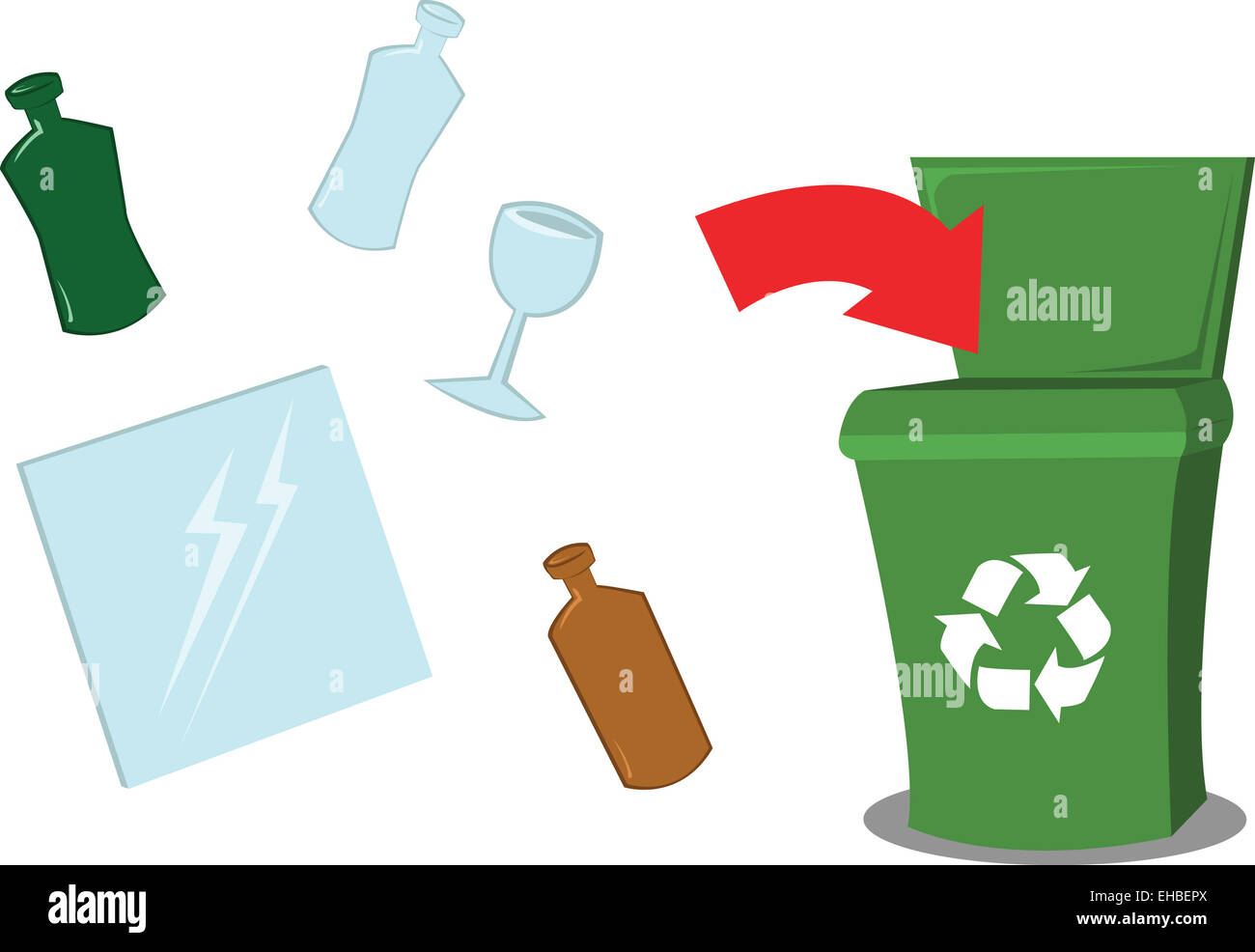 Un Vector Que Representa Un Punto De Reciclaje De Dibujos