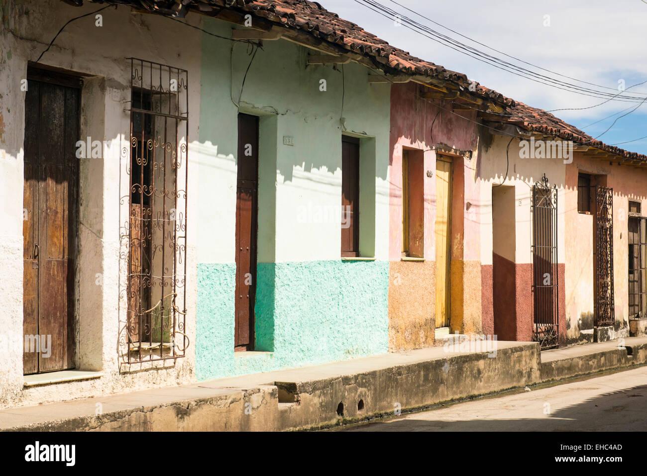 Cuba Sancti Spiritus Ciudad Vieja Calle Típica Escena