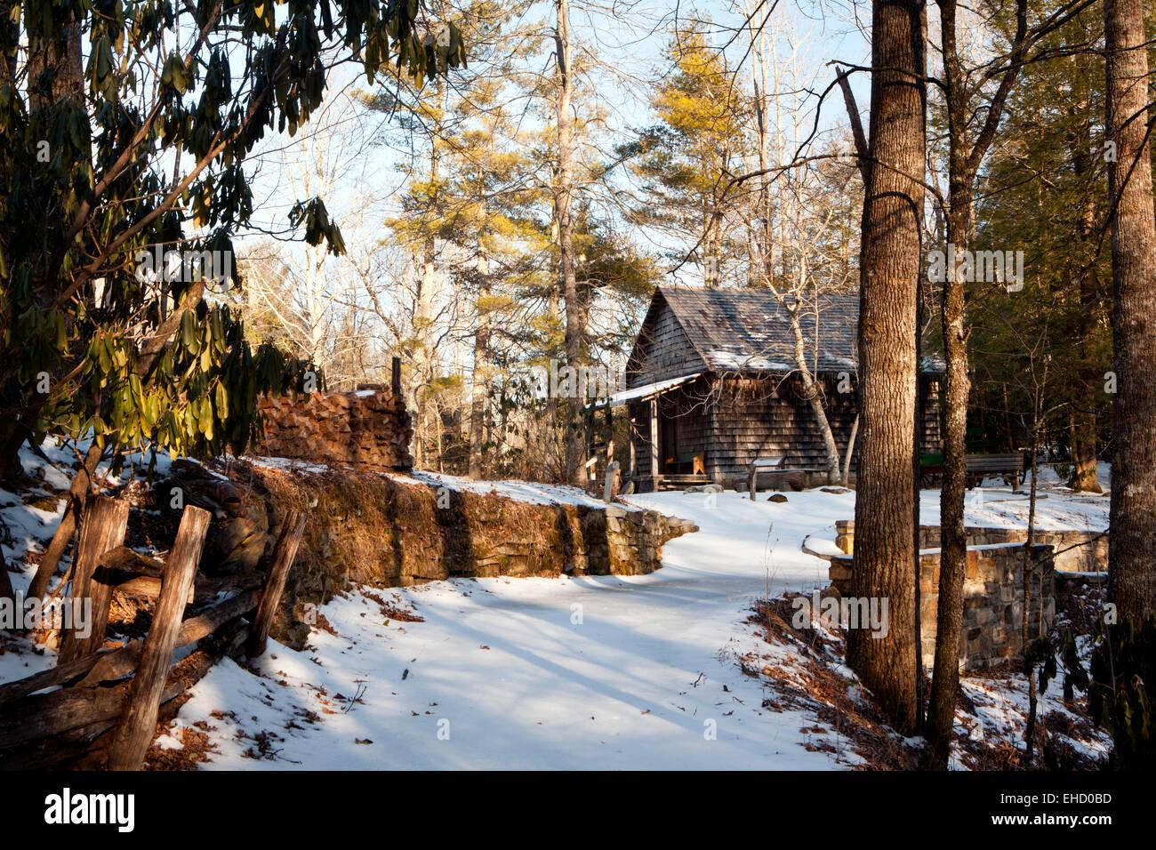 Cuna de la silvicultura - Bosque Nacional Pisgah - cerca de Brevard, Carolina del Norte, EE.UU. Imagen De Stock