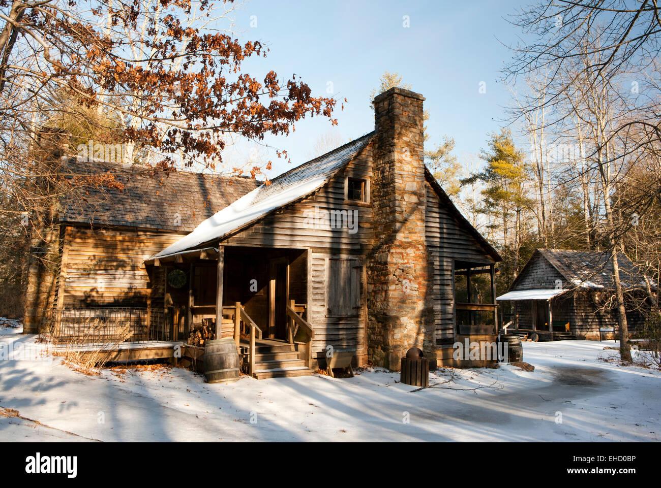 La morada de Ranger - Cuna de la silvicultura - Bosque Nacional Pisgah - cerca de Brevard, Carolina del Norte, EE.UU. Imagen De Stock