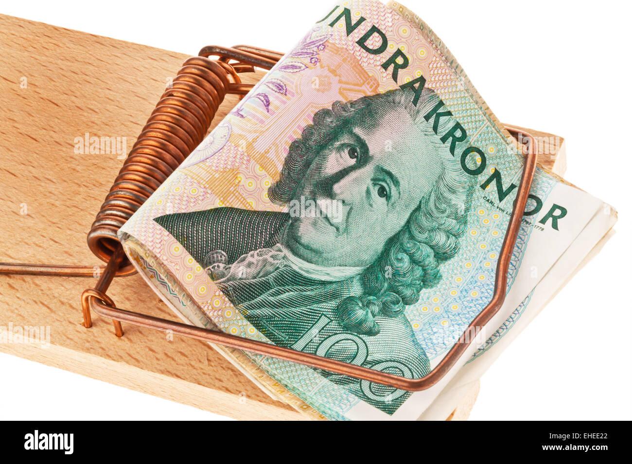 La moneda sueca Foto de stock