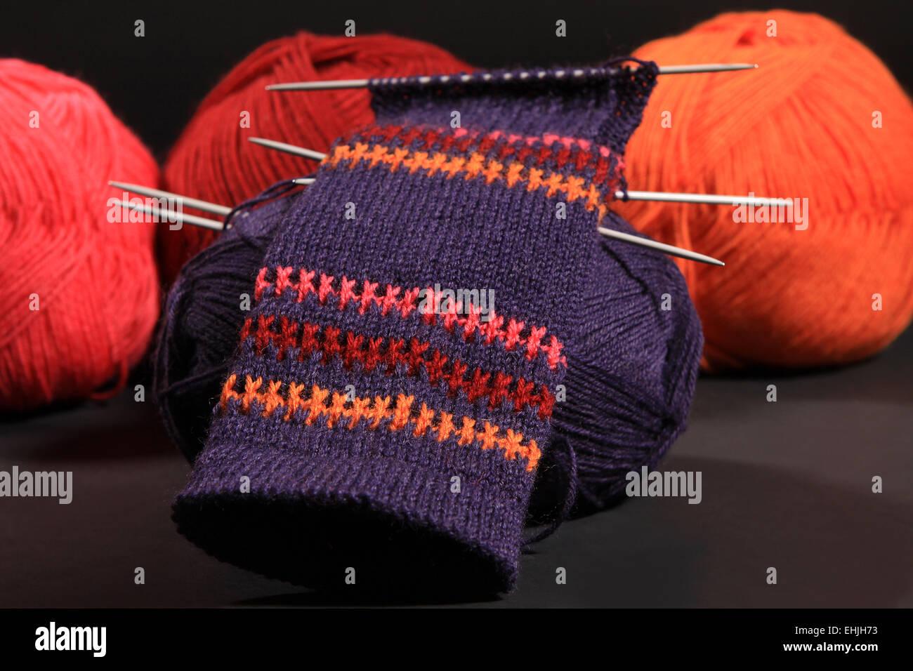 lana de colores Foto de stock