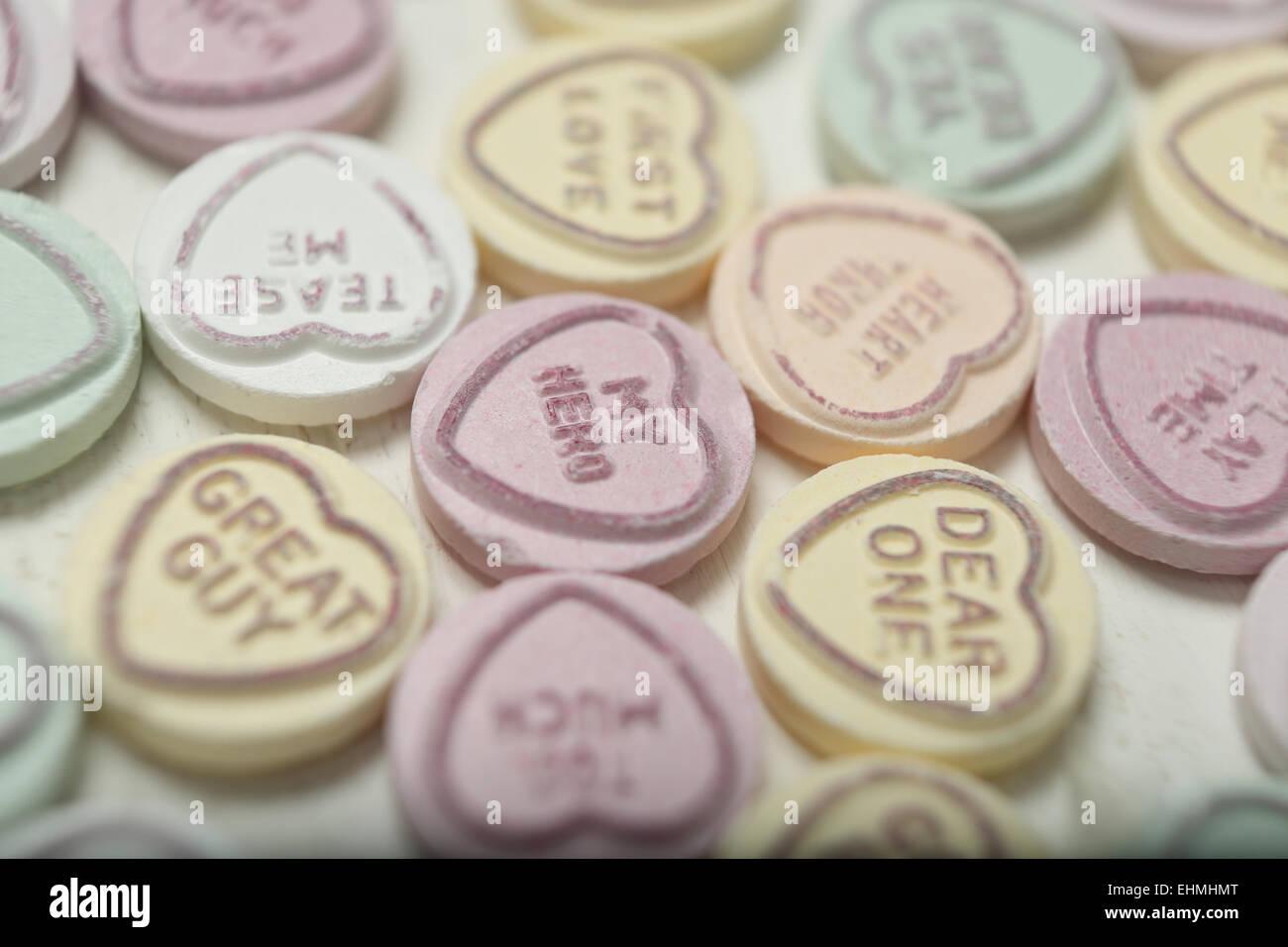 Dia De San Valentin Dulces O Golosinas Fotografiado En Un Estudio
