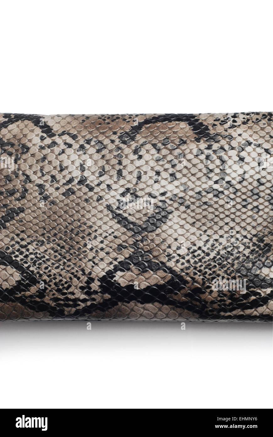 Textura de serpiente sobre fondo blanco. Imagen De Stock