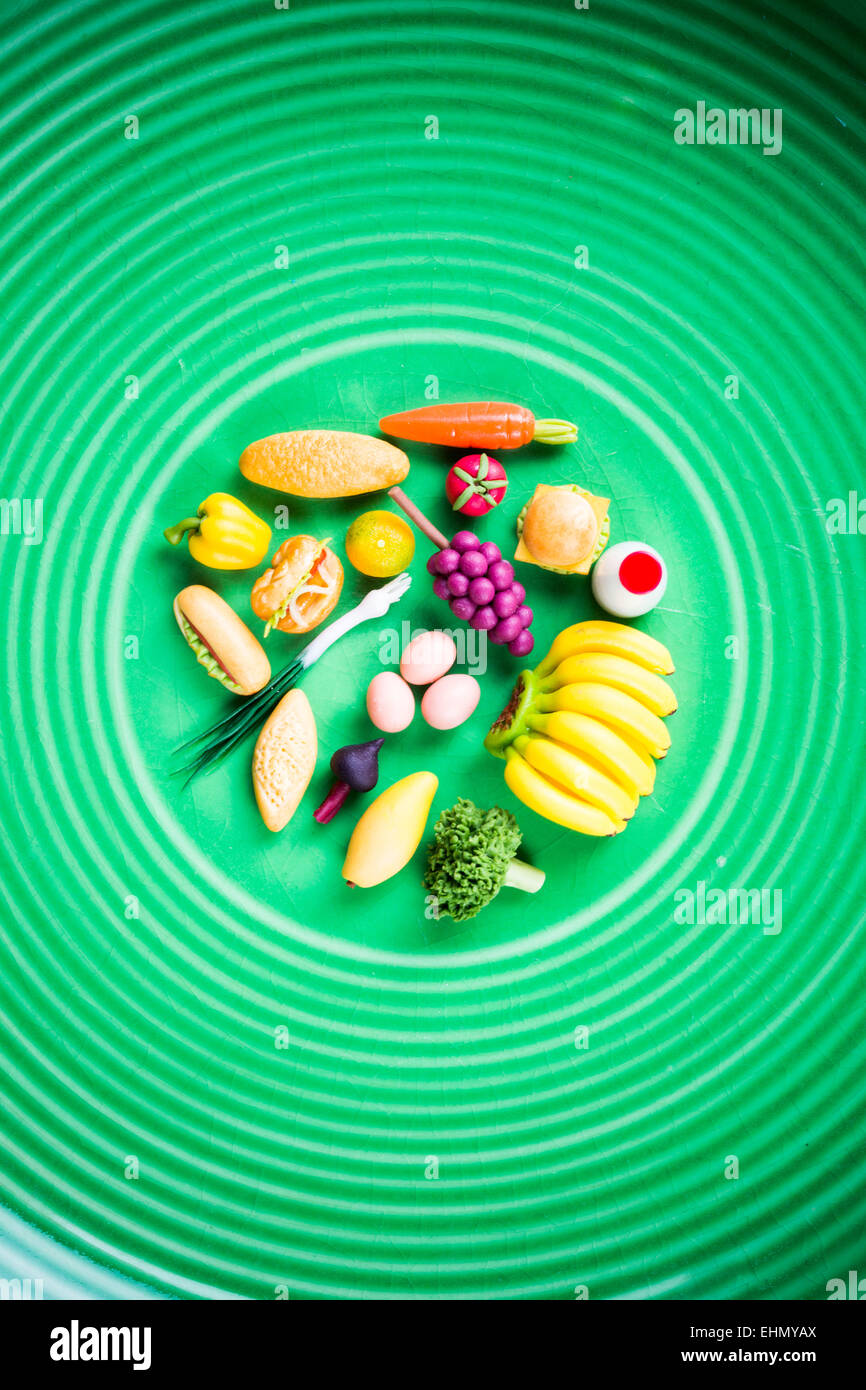 Imagen conceptual de una comida saludable. Imagen De Stock