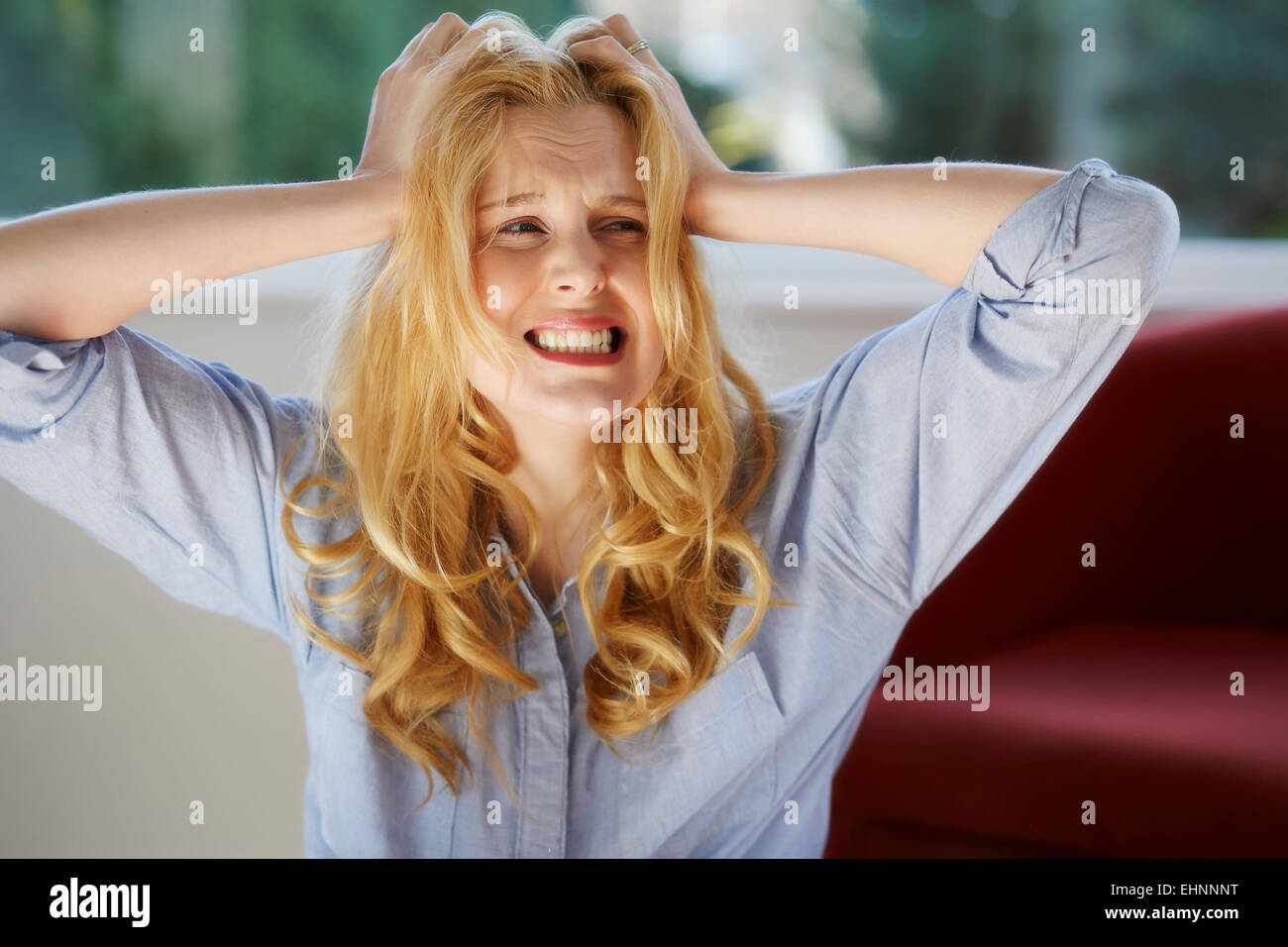 Mujer gritando Imagen De Stock