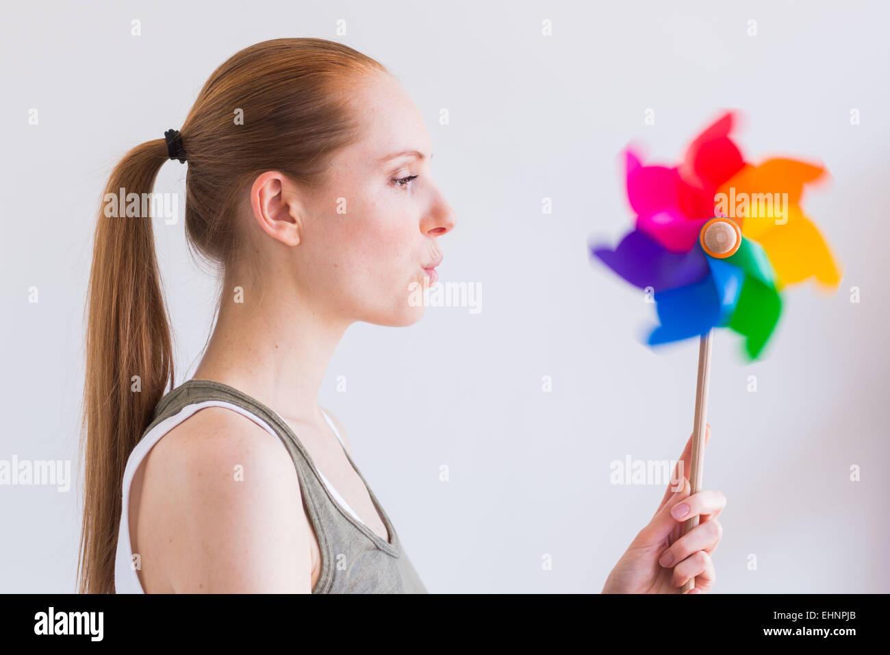 Imagen conceptual de aliento. Imagen De Stock