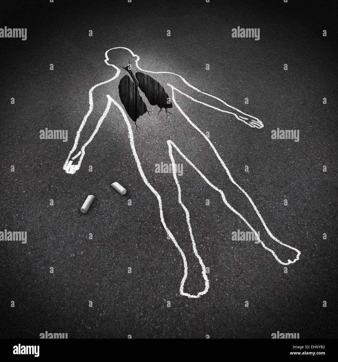 Concepto médico enfermedad pulmonar y enfermedad respiratoria anatomía humana símbolo como un dibujo Imagen De Stock