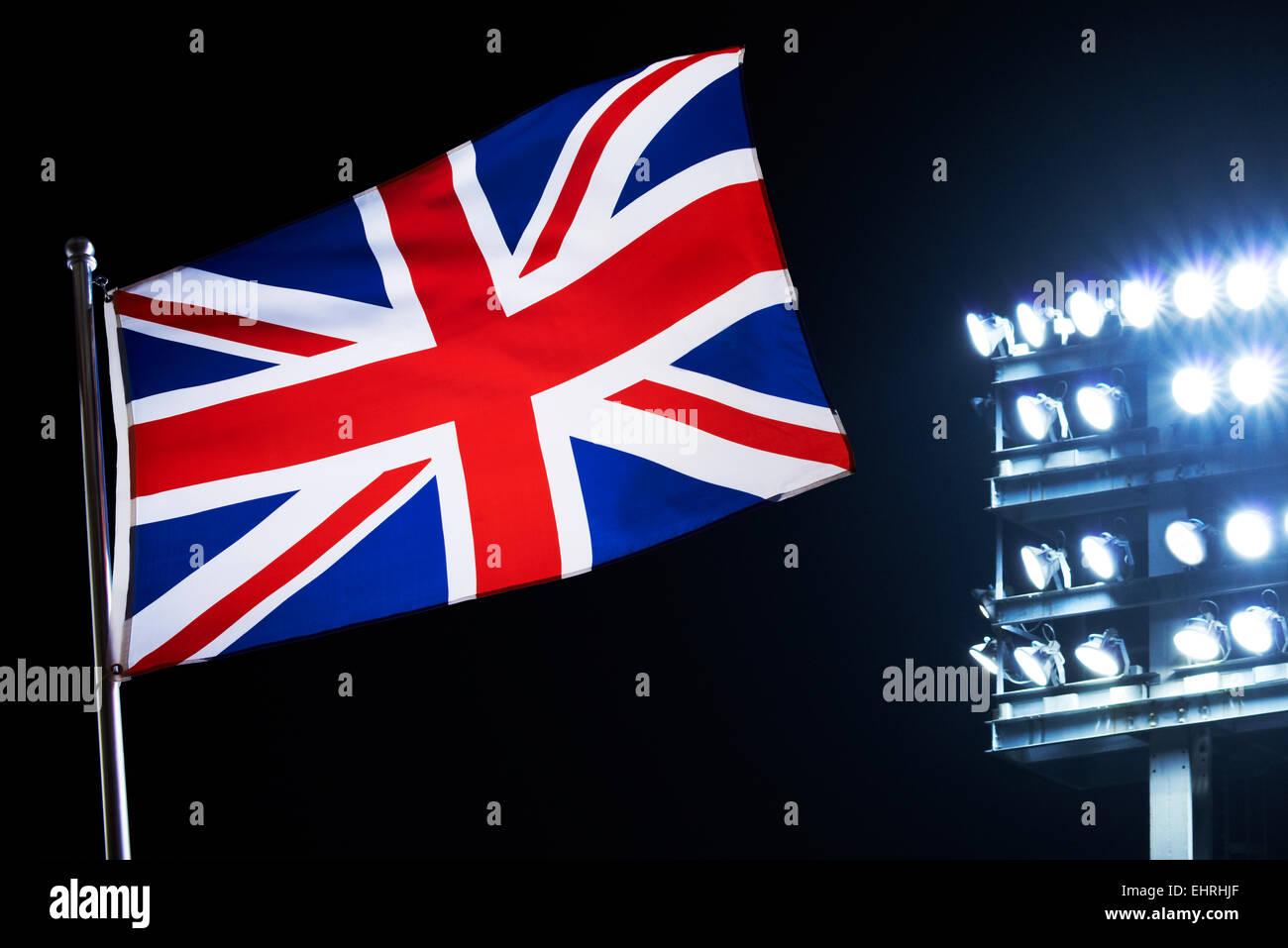 Bandera de la Unión Jack Imagen De Stock