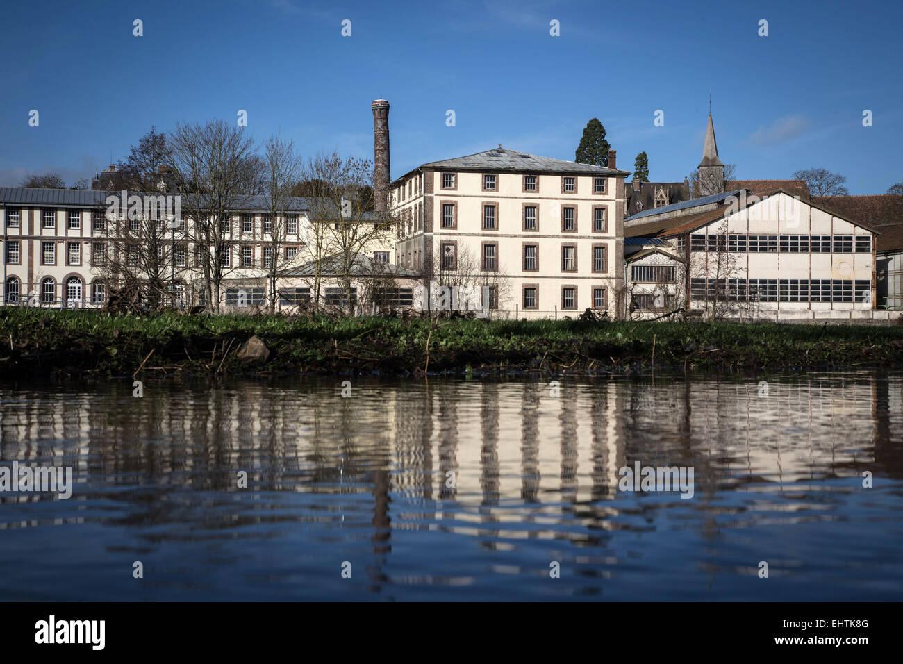 Fabricación BOHIN, Museo Vivo de la aguja y el pasador, Saint Sulpice-SUR-RISLE, Orne (61), Francia Imagen De Stock