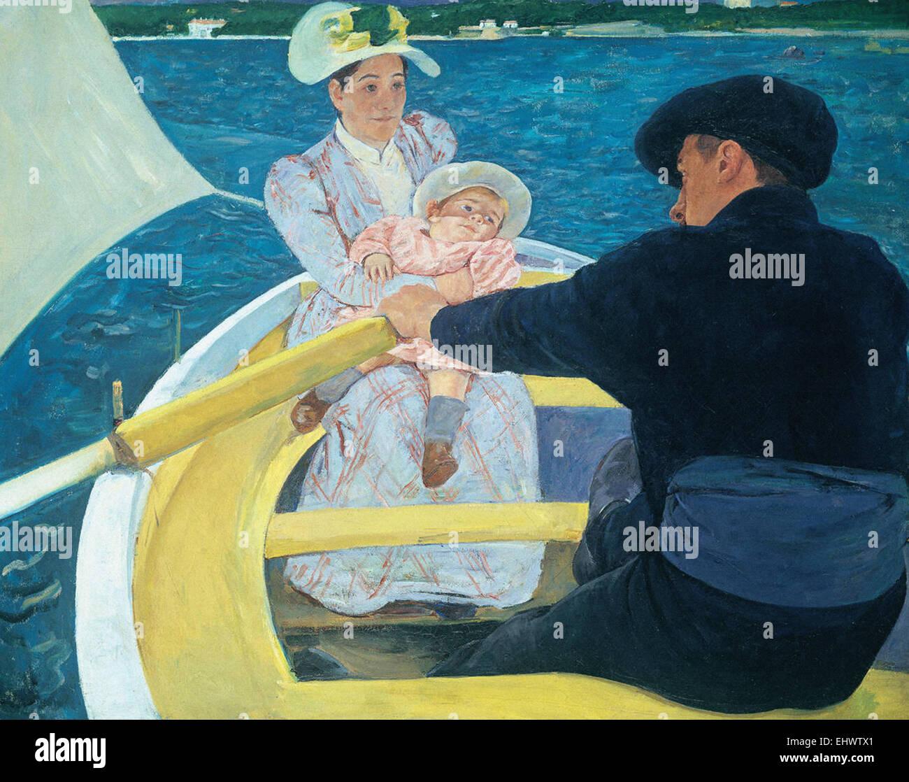 Mary Cassatt La parte náutica Imagen De Stock