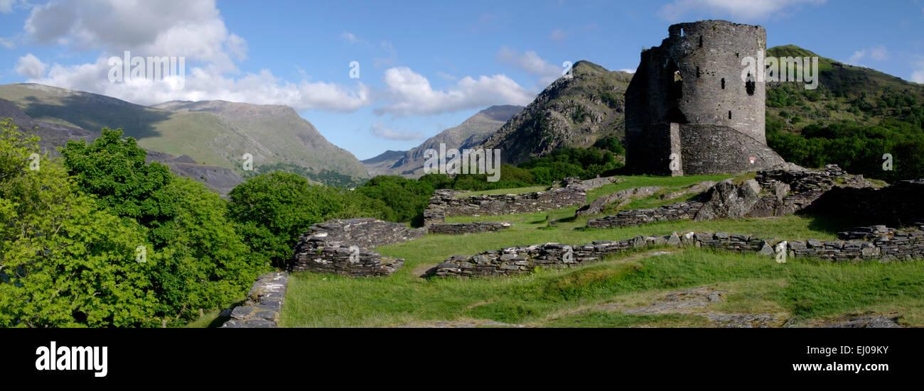 Castillo Dolbadarn, Llanberis, Snowdonia, Gwynedd Foto de stock