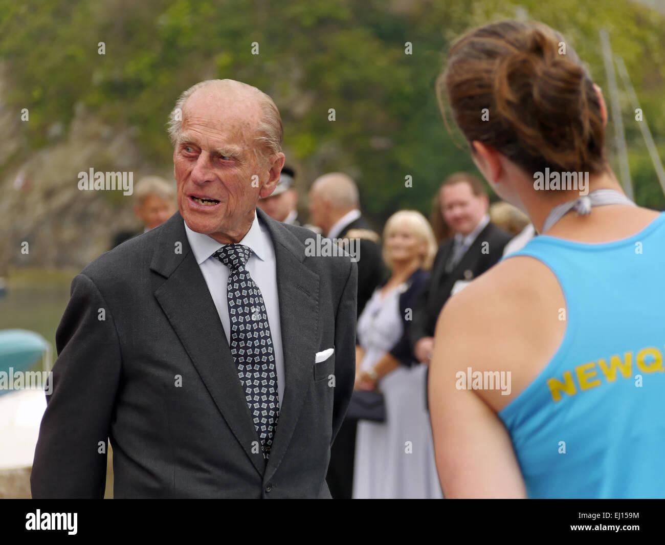 Duque de Edimburgo con mujeres Imagen De Stock