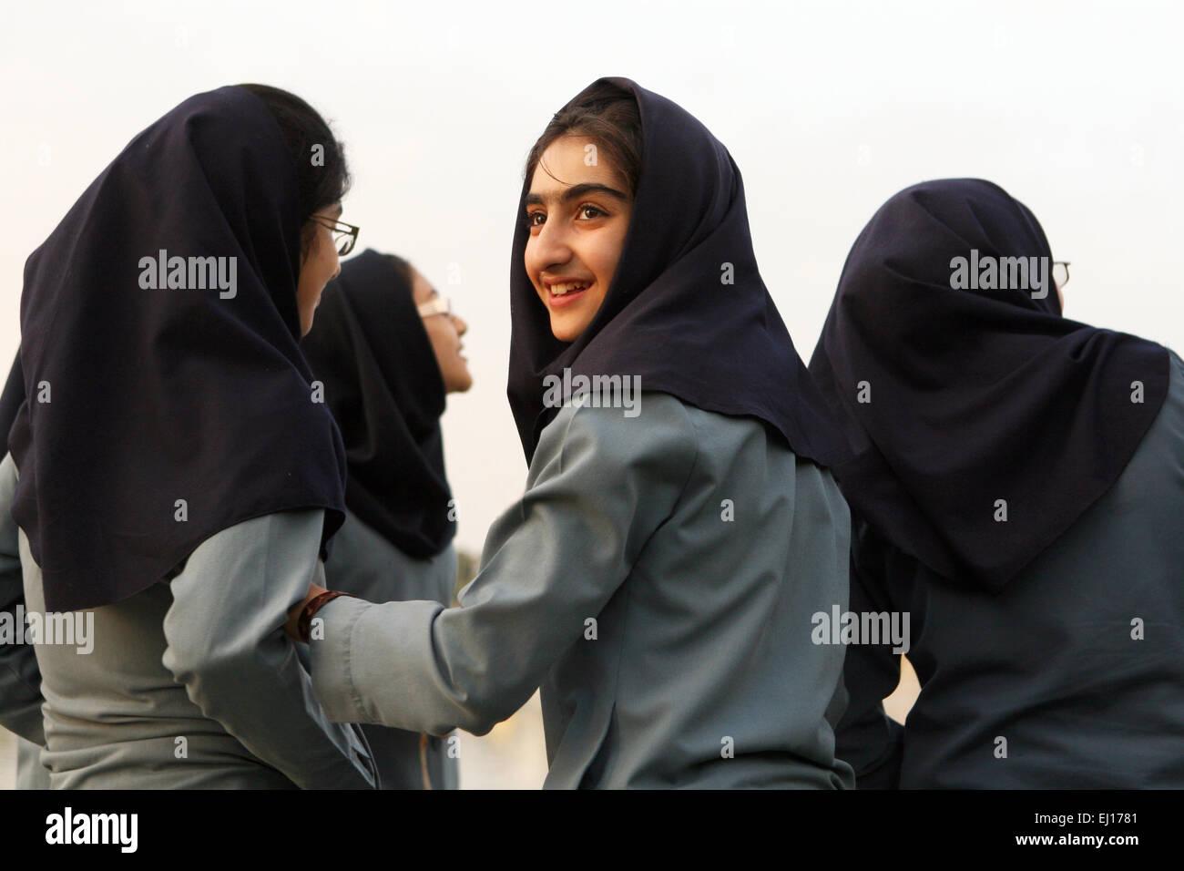 Los alumnos en Teherán, Irán. Imagen De Stock