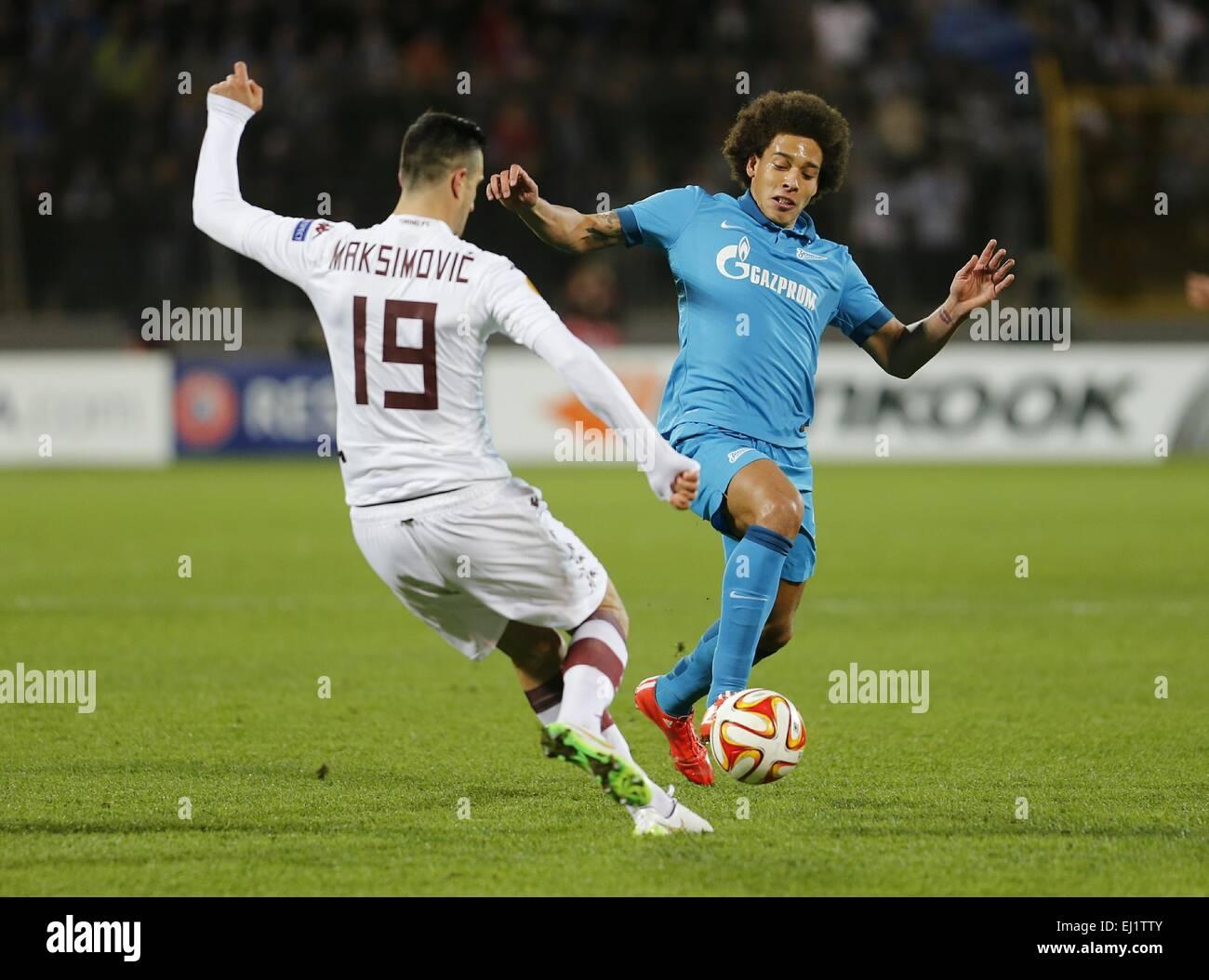 6527da16 Europa League 2014/15. 1/8 final. FC Zenit San Petersburgo vs Torino F.C.,  2:0. En la foto: Torino F.C. jugador Nikola Maksimovic (19), jugador del FC  Zenit ...