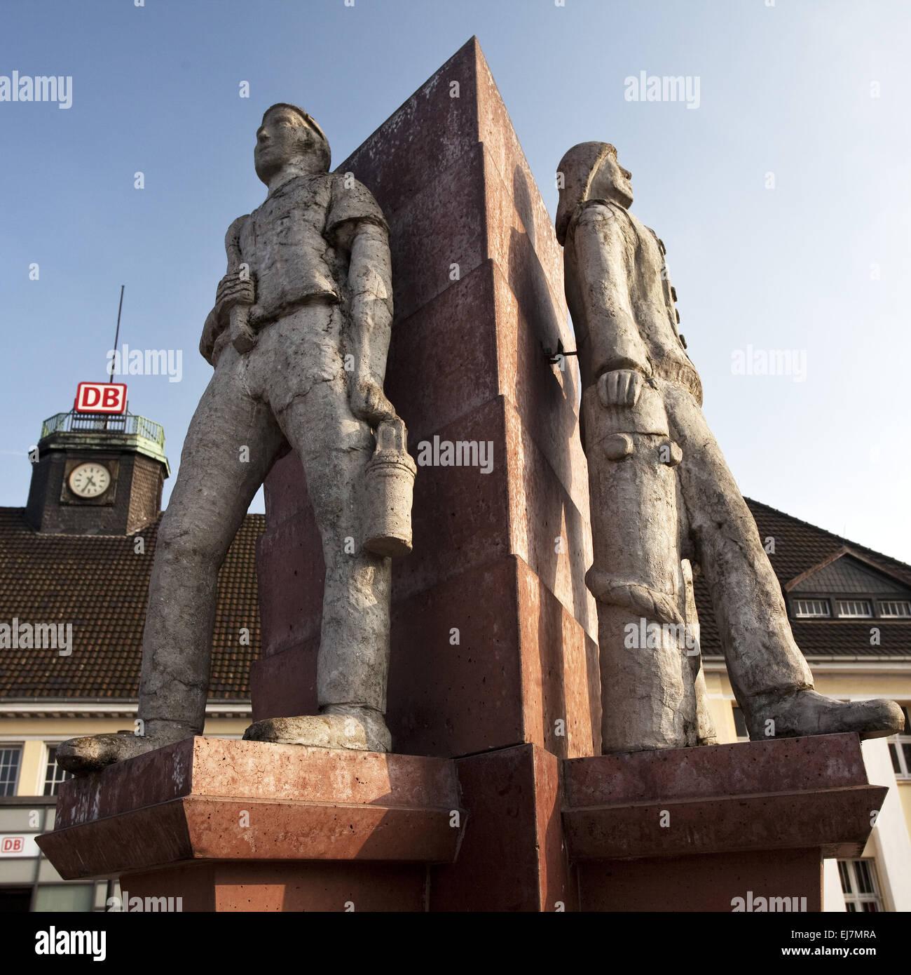 Tres hombres esquina, Herne, Alemania Imagen De Stock