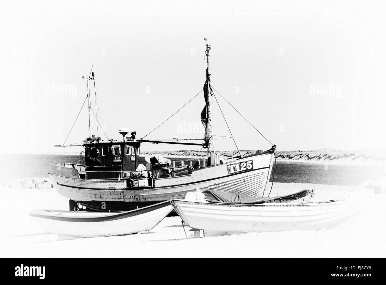 Barco pesquero danés Foto de stock