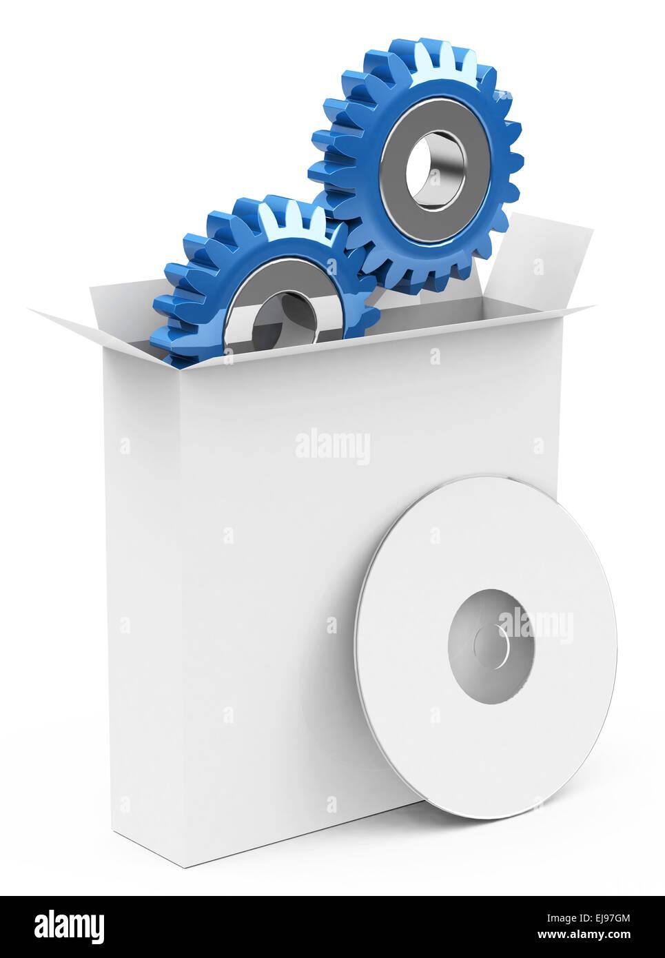La caja del software Imagen De Stock