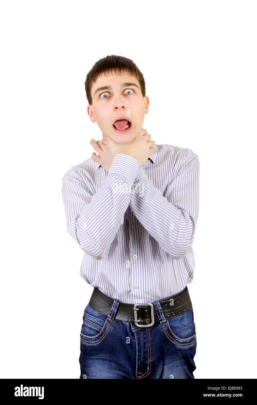 Adolescente nervioso Imagen De Stock