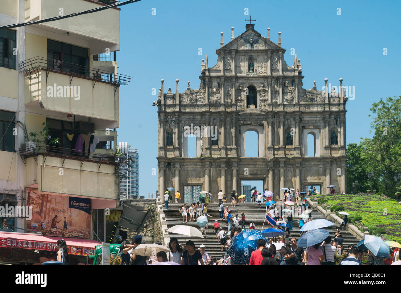 Ruinas de San Pablo en Macao Imagen De Stock