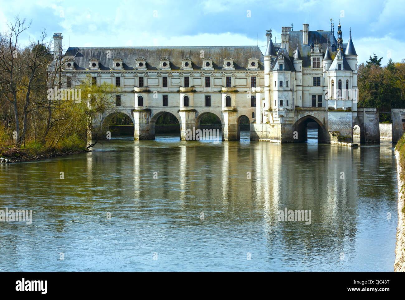Castillo de Chenonceau o señoras Castillo (Francia). Imagen De Stock