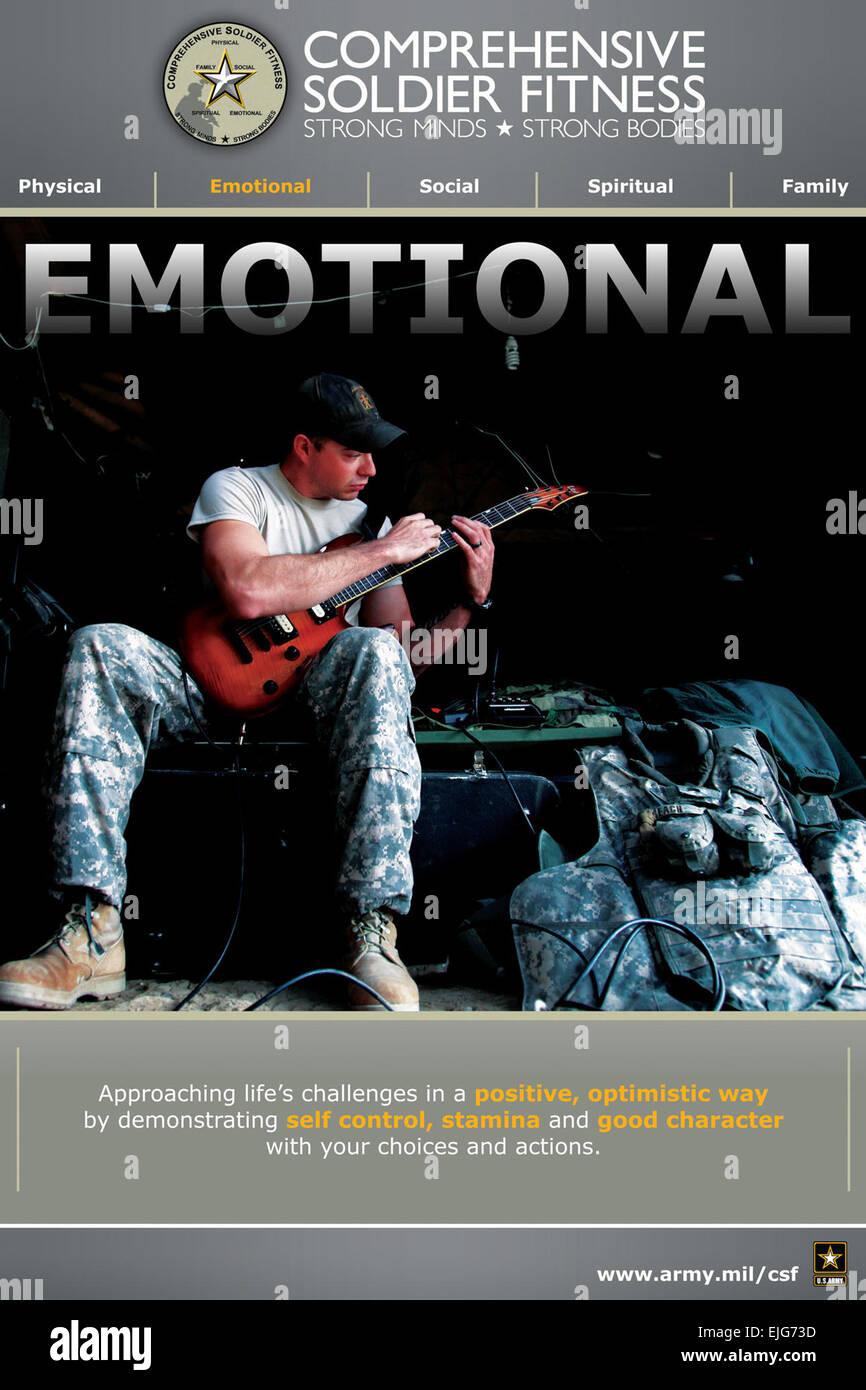 Uno de los cinco carteles disponibles para ayudar a promover el entendimiento acerca del ejército soldado amplio Imagen De Stock