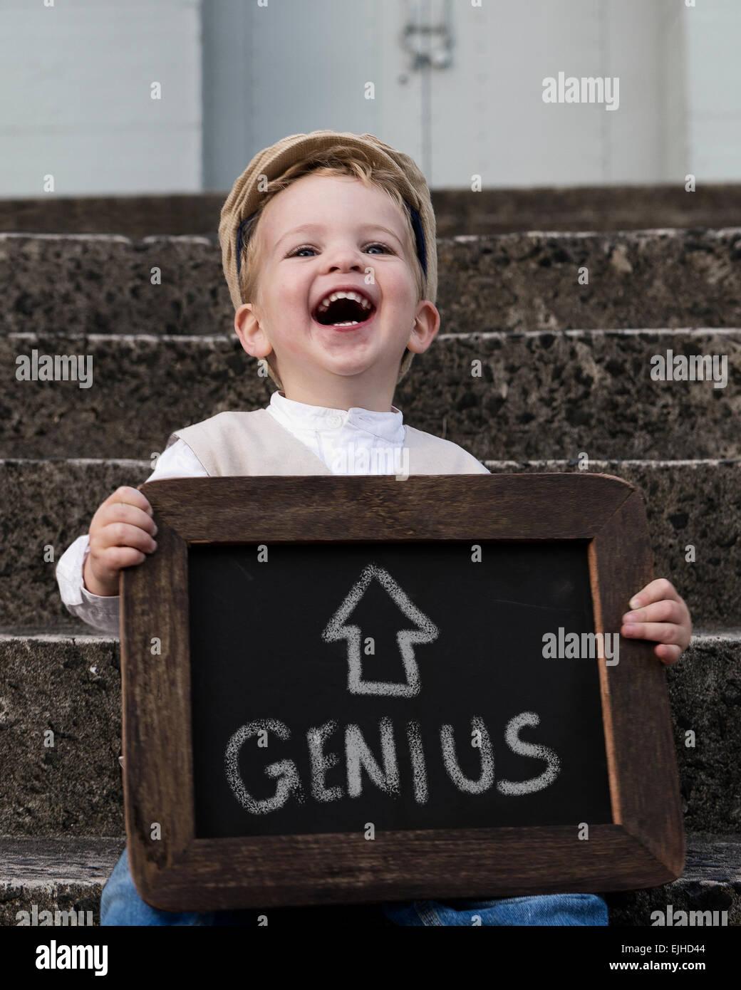 Auto confesado Boy Genius Imagen De Stock