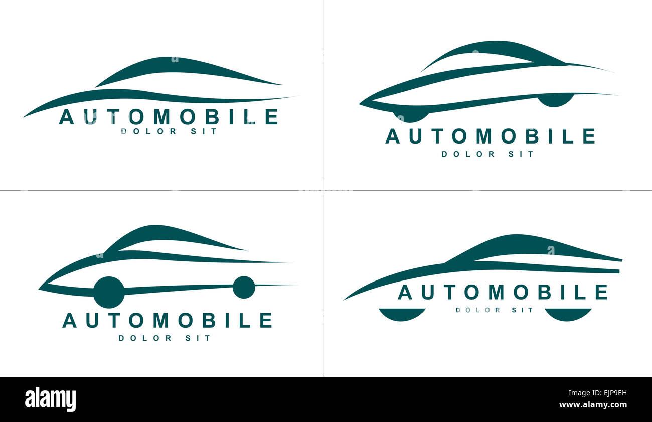 Vector logo plantilla de formas estilizadas de coche o automóvil ...