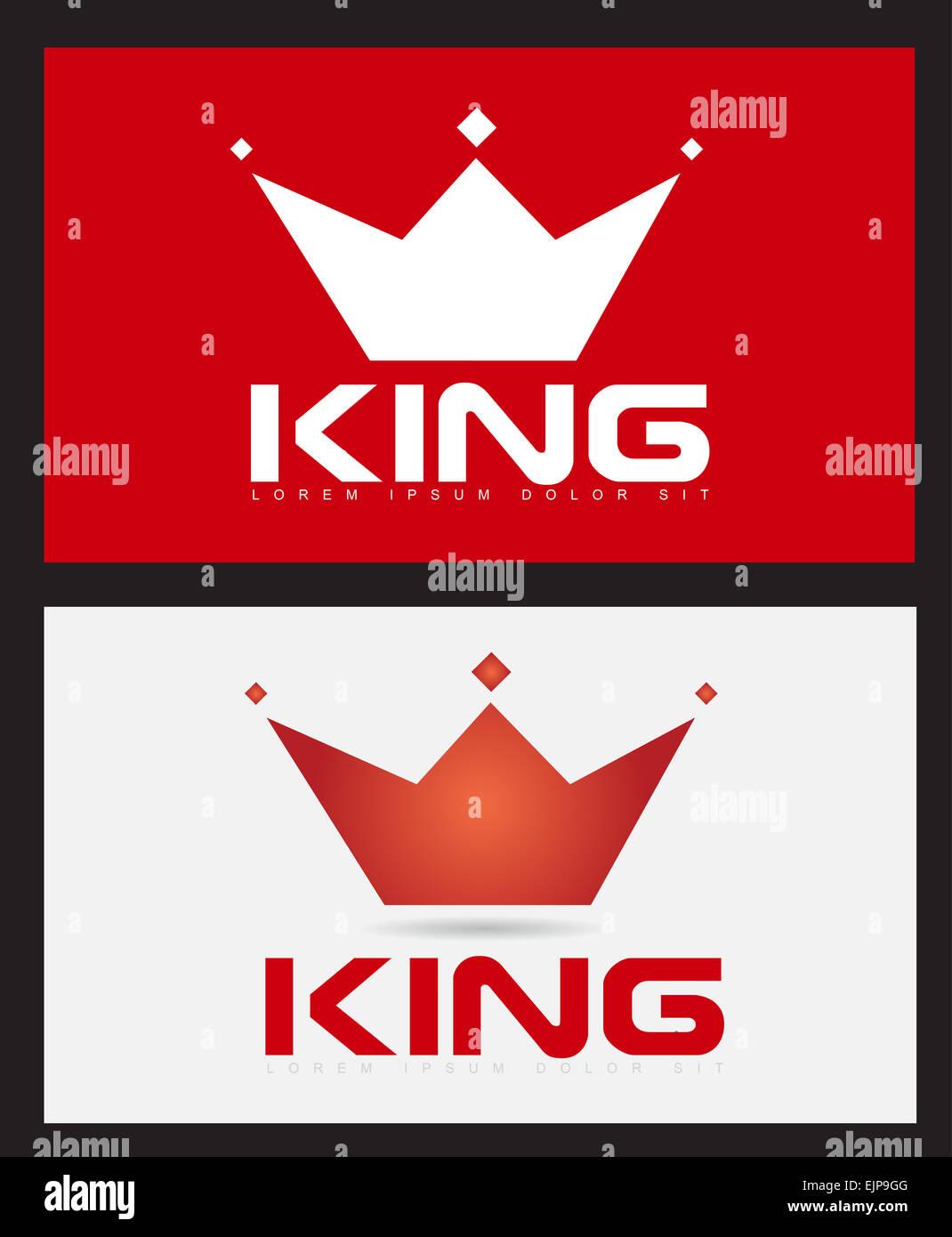 Plantilla vectorial del rey corona ilustración icono Foto & Imagen ...