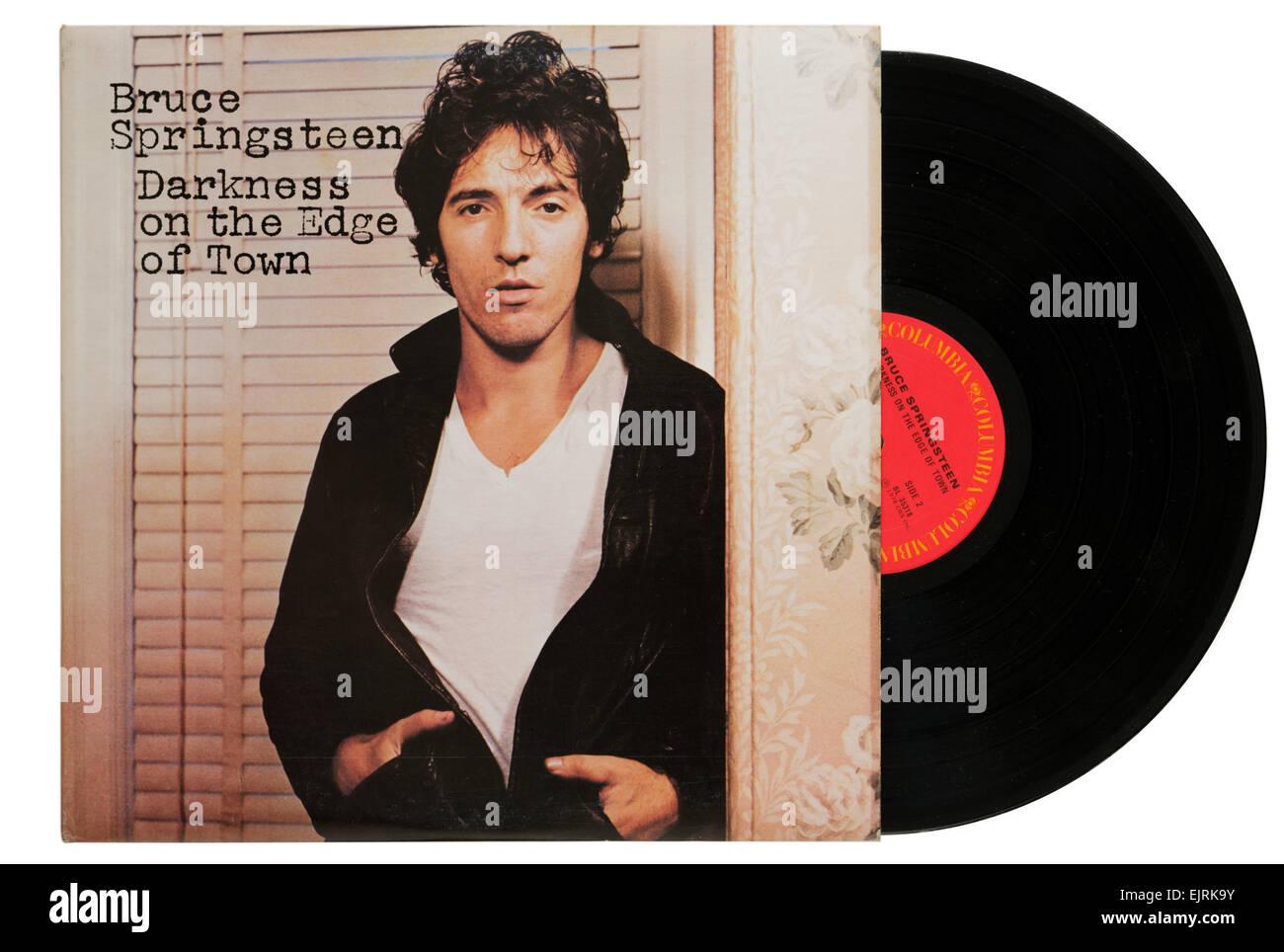Bruce Springsteen álbum oscuridad en el borde de la ciudad. Imagen De Stock