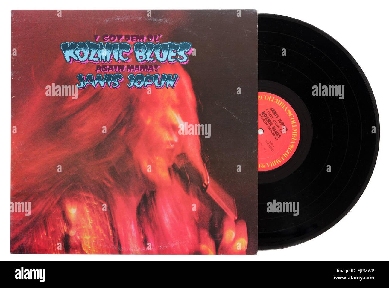 Janis Joplin Conseguí antiguo Dem Kozmic Blues Mama nuevo álbum Imagen De Stock
