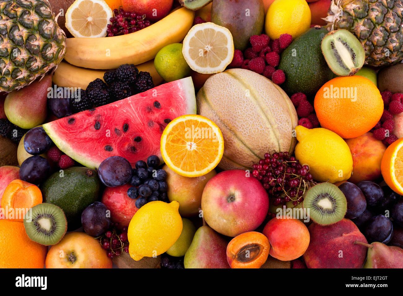 Frutas y bayas Imagen De Stock