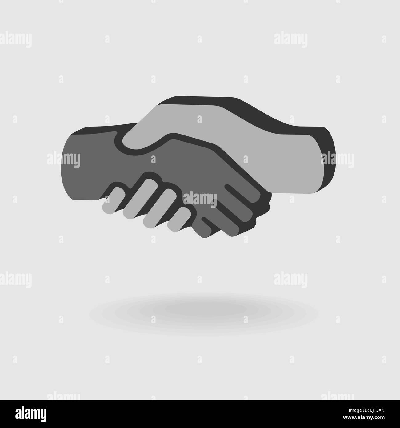 Apretón de manos símbolo Imagen De Stock