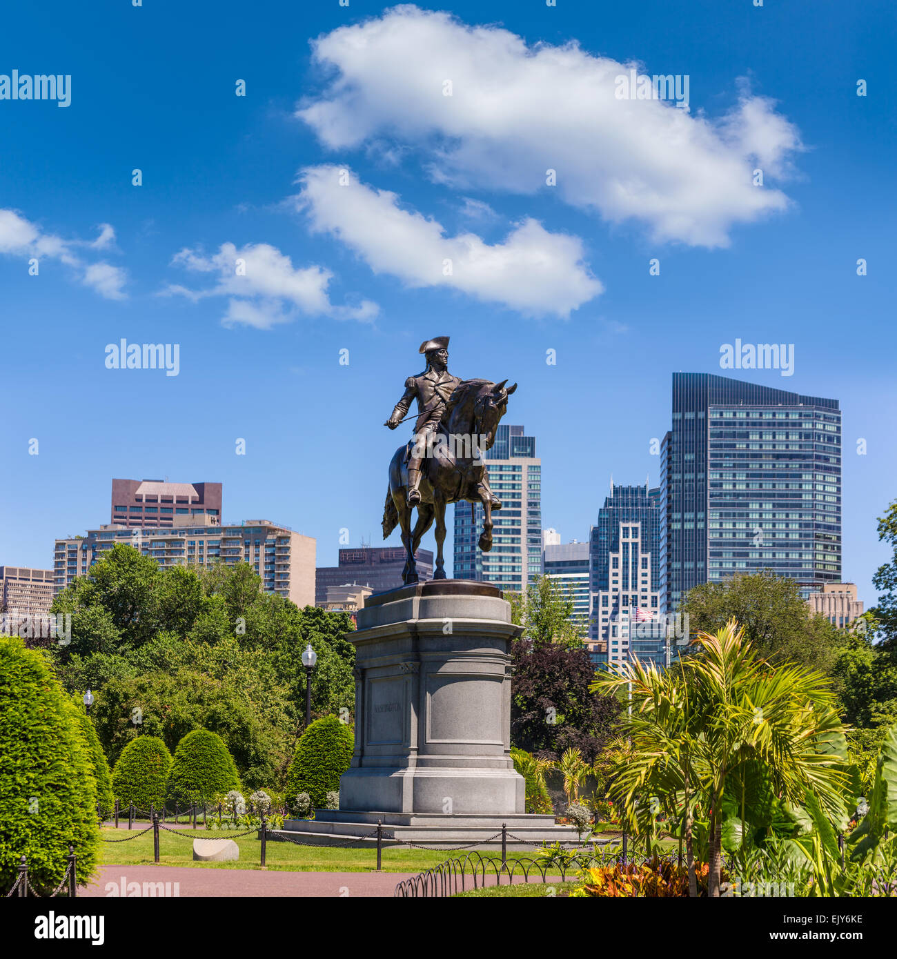 Boston Common George Washington Monument en Massachusetts EE.UU. Imagen De Stock