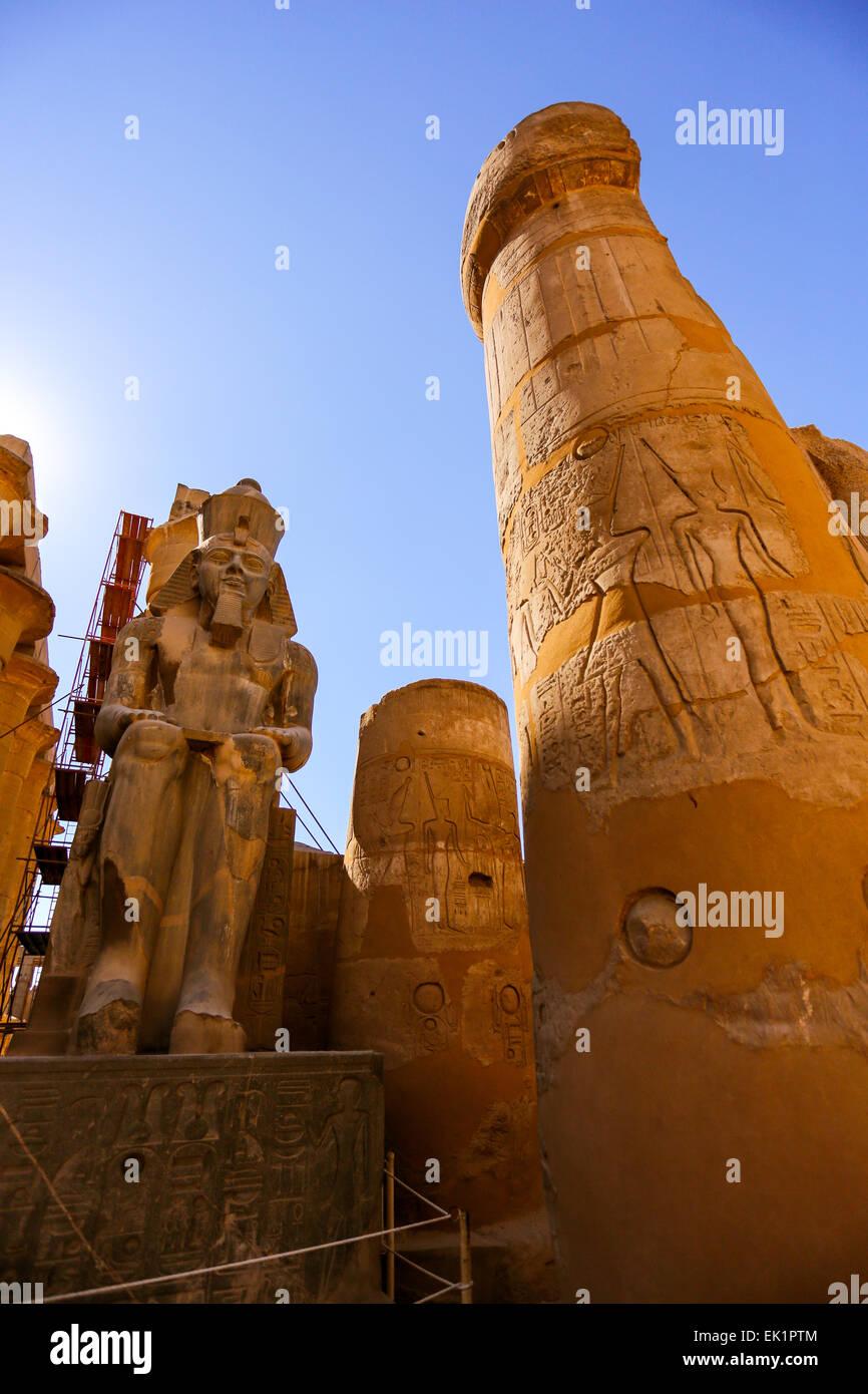 Templo de Luxor, la ciudad de Luxor, Egipto Imagen De Stock