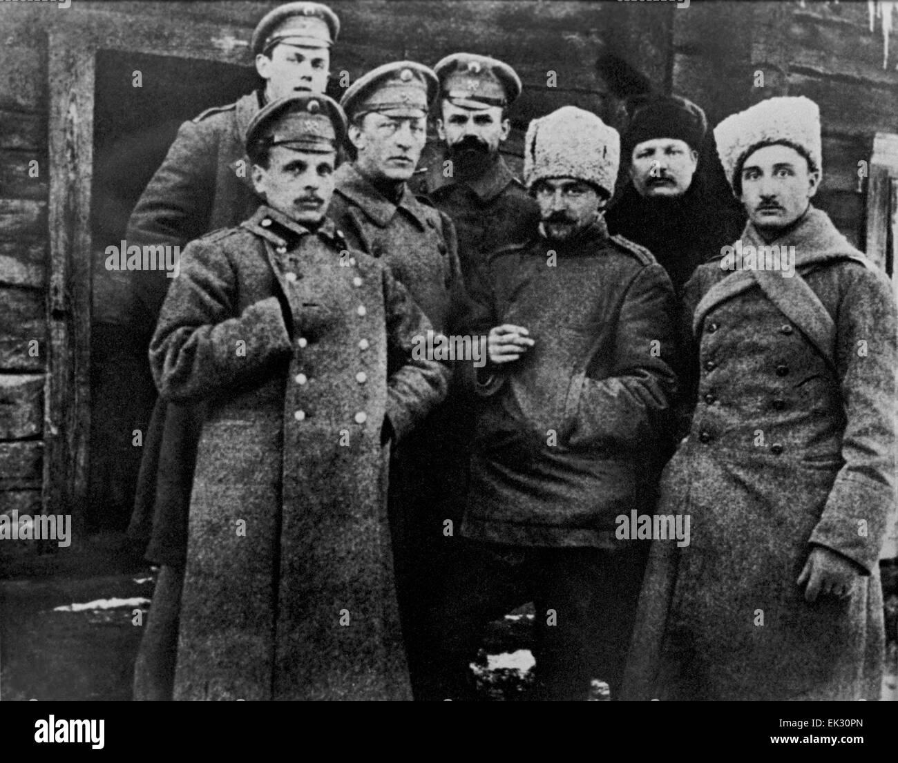 Belarús. Imperio Ruso. Poeta Alexander Blok L, el tercer lugar entre sus compañeros de armas durante la Imagen De Stock