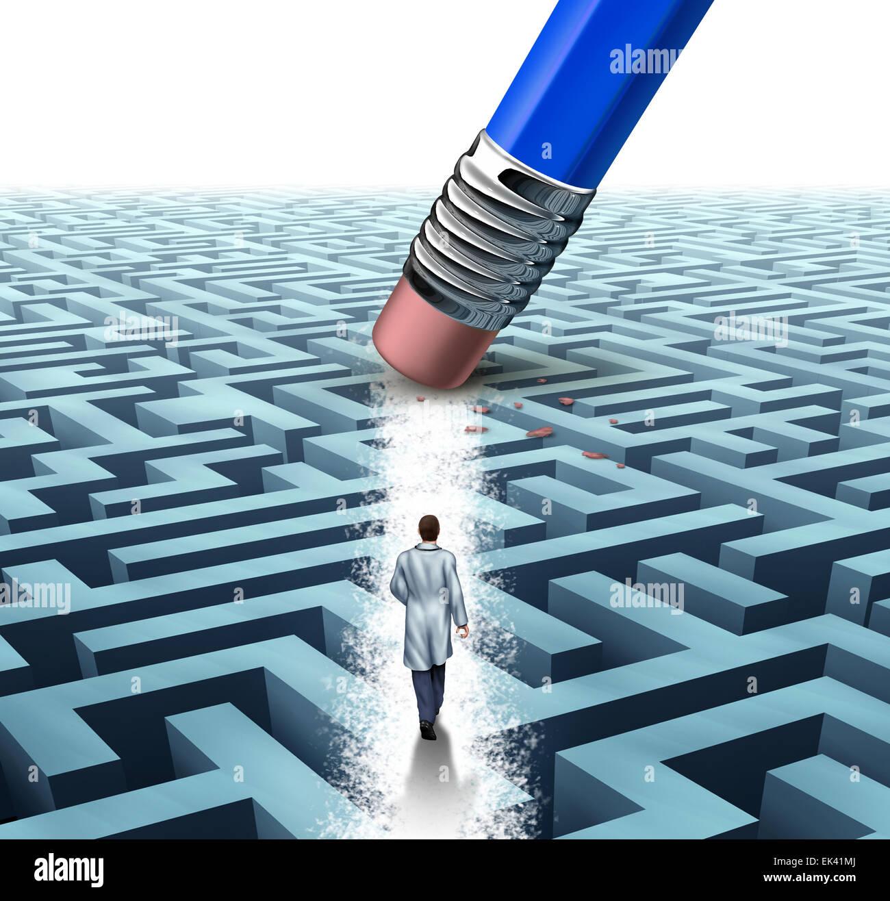 Concepto de cuidados médicos de salud de liderazgo como médico o científico caminando a través Imagen De Stock