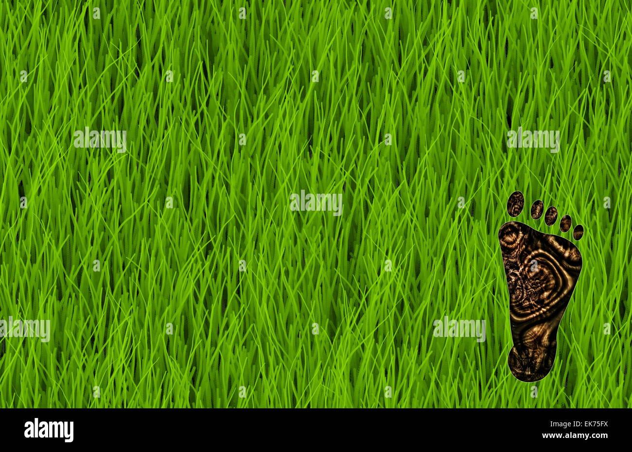 Huella de carbono Imagen De Stock