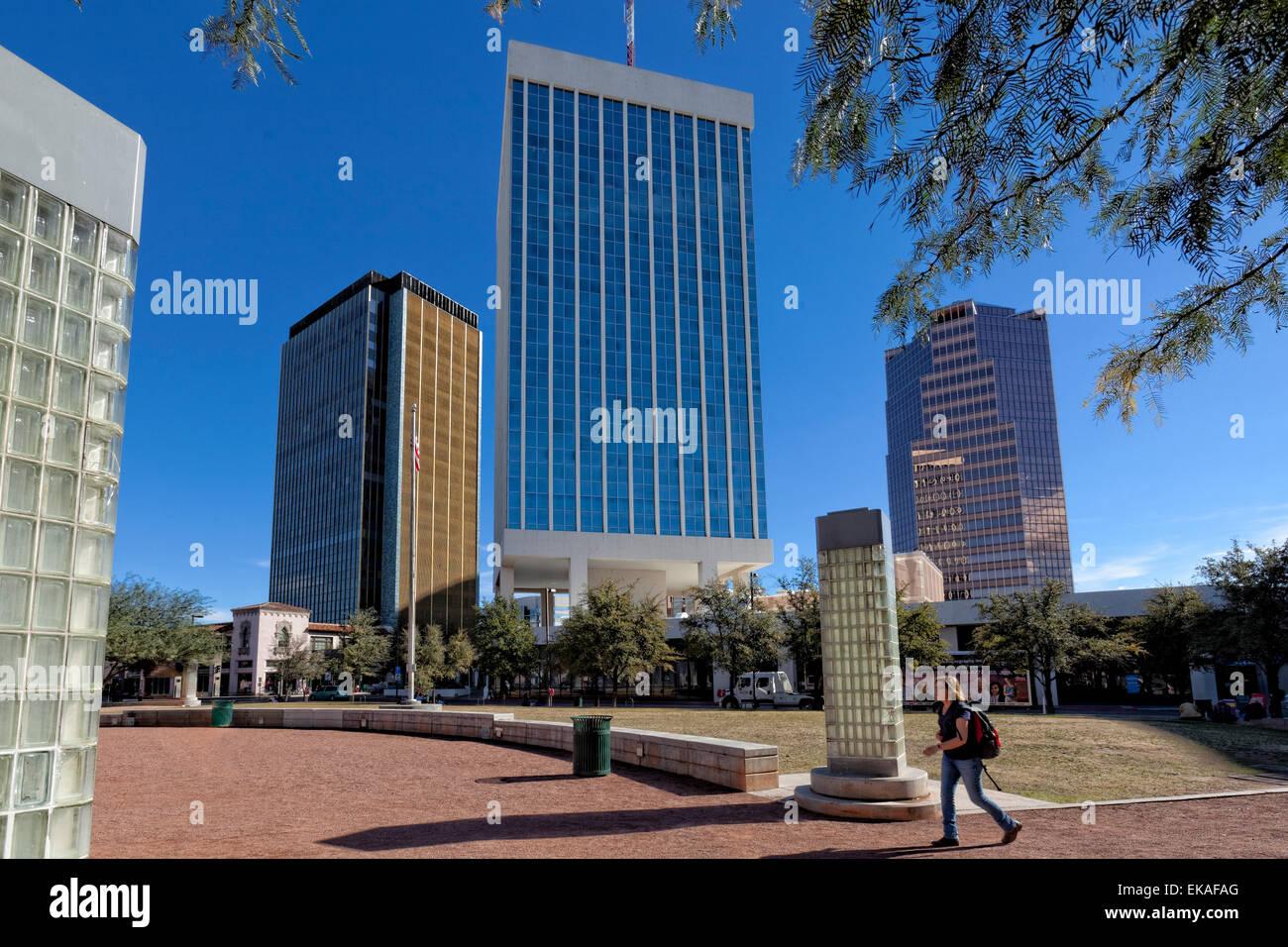 Edificios altos de Tucson Imagen De Stock