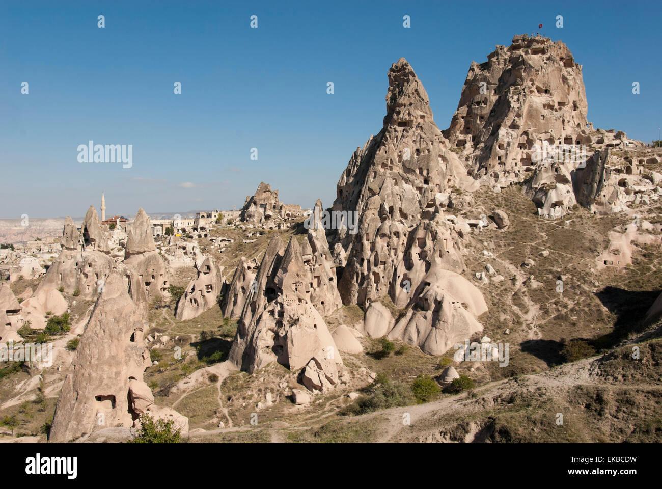 Uchisar, Capadocia, en Anatolia, Turquía, Asia Menor, Eurasia Imagen De Stock