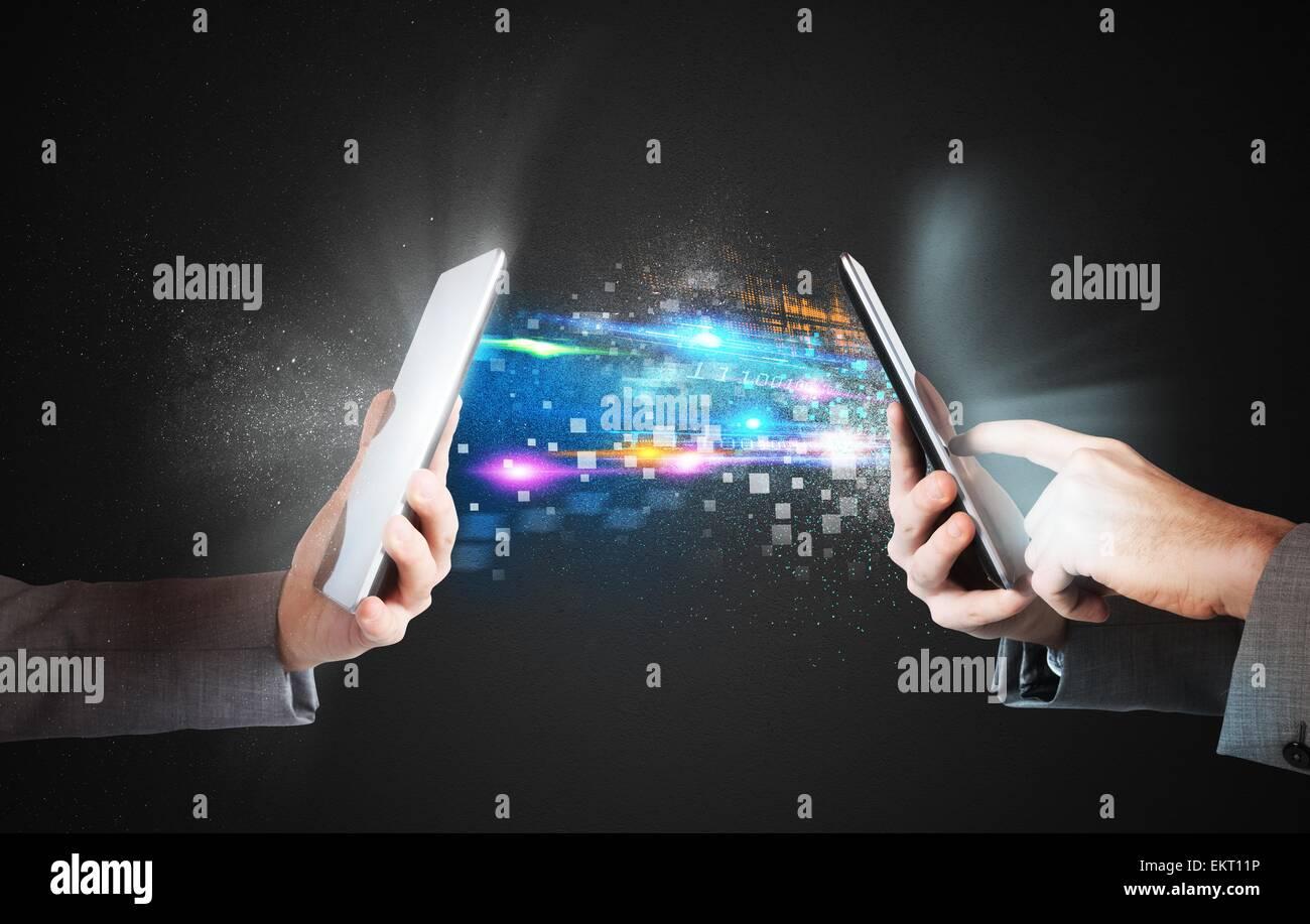 Compartir y enviar Imagen De Stock